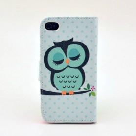 iPhone 4 taivaan sininen pöllö puhelinlompakko