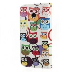 Lumia 630 värikkäät pöllöt puhelinlompakko
