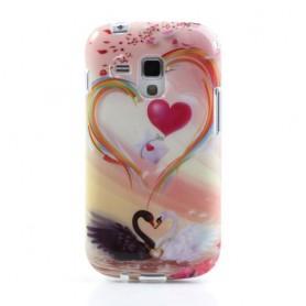 Samsung Galaxy Trend joutsen ja sydän silikonisuojus.
