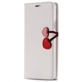 Galaxy S5 nätti valkoinen puhelinlompakko