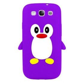 Galaxy S3 violetti pingviini silikonisuojus.