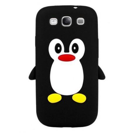 Galaxy S3 musta pingviini silikonisuojus.