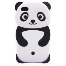 iPhone 4 valkoinen panda silikonisuojus.