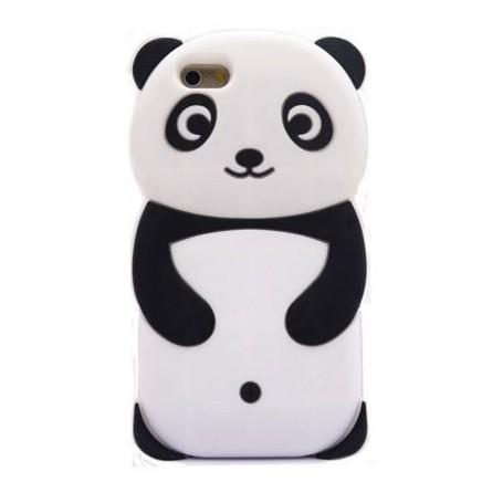 iPhone 5 valkoinen panda silikonisuojus.
