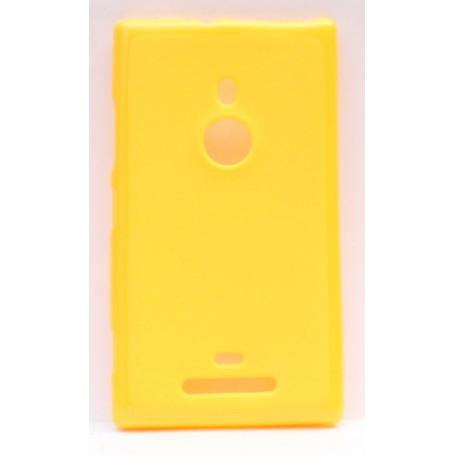 Lumia 925 keltainen silikoni suojakuori.