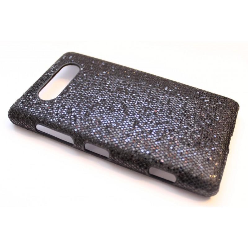 Lumia 820 musta glitter suojakuori.