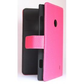 Lumia 520 hot pink lompakko suojakotelo.