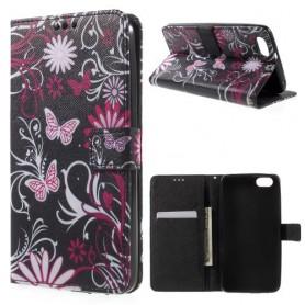 Huawei Honor 4X kukkia ja perhosia puhelinlompakko