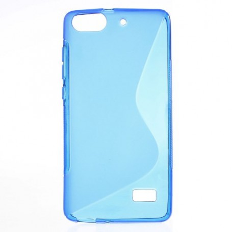 Huawei Honor 4C sininen silikonisuojus.