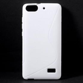 Huawei Honor 4C valkoinen silikonisuojus.