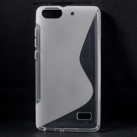 Huawei Honor 4C läpinäkyvä silikonisuojus.