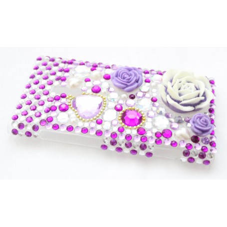 Lumia 800 bling suojakuori violetit kohokukat.