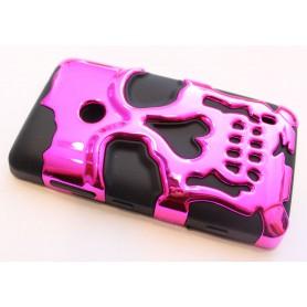 Lumia 520 hot pink pääkallo suojakuori.