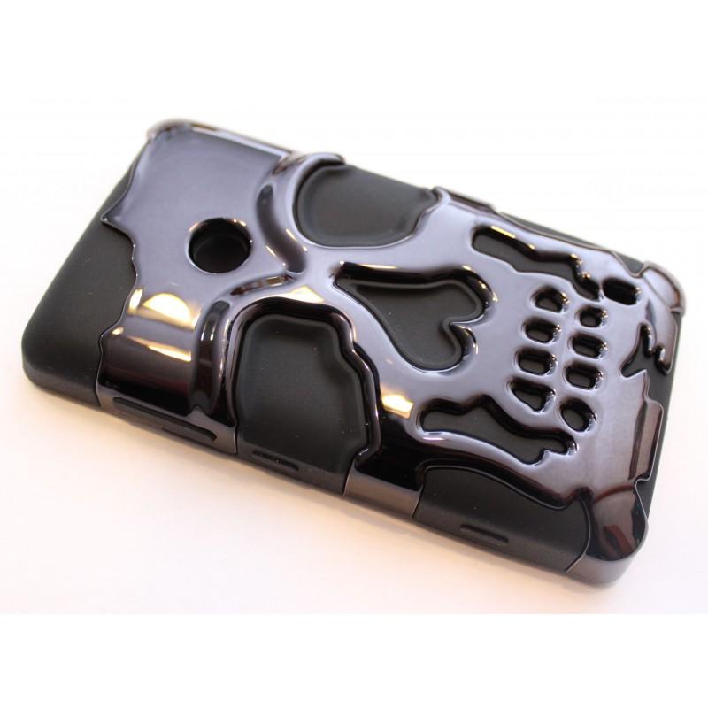 Lumia 520 musta pääkallo suojakuori.
