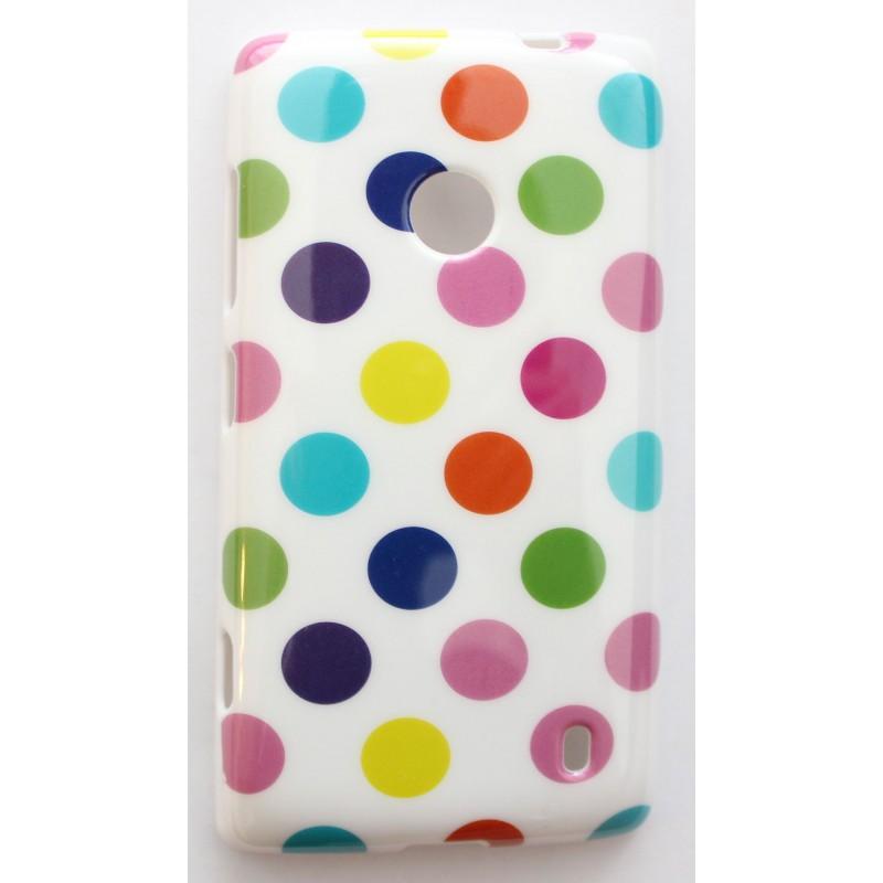 Lumia 520 värikäs polka dot suojakuori.