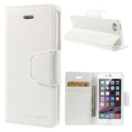 iPhone 5 valkoinen puhelinlompakko