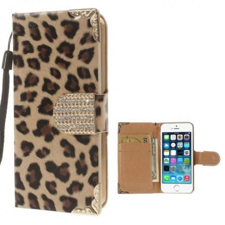 iPhone 5 leopardi puhelinlompakko