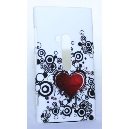 Nokia Lumia 920 kova suojakuori punainen sydän.