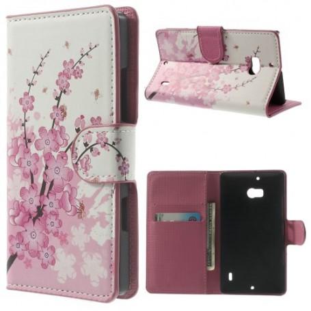 Lumia 930 vaaleanpunainen kukka puhelinlompakko