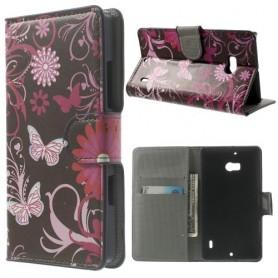 Lumia 930 kukkia ja perhosia puhelinlompakko