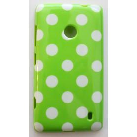 Lumia 520 limenvihreä polka dot suojakuori.