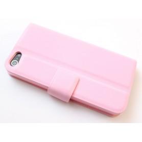 iPhone 5 vaaleanpunainen puhelinlompakko