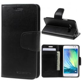 Samsung Galaxy A3 musta puhelinlompakko