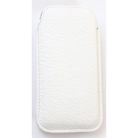 iPhone valkoinen nahka vetoliuska suojakotelo.