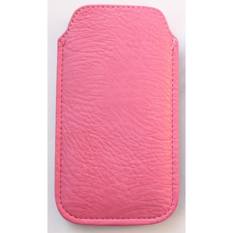 iPhone pinkki nahka vetoliuska suojakotelo.