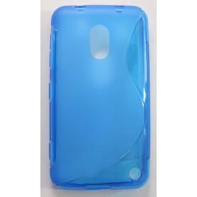 Lumia 620 sininen silikonisuojus.