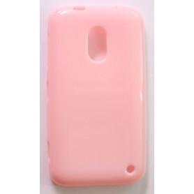 Lumia 620 vaaleanpunainen silikonisuojus.