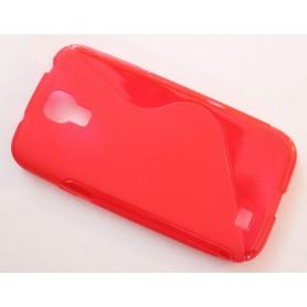 Galaxy S4 punainen silikonisuojus.