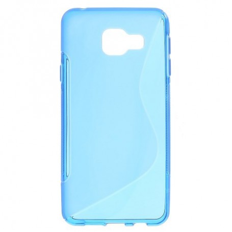 Samsung Galaxy A3 2016 sininen silikonisuojus.