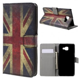 Samsung Galaxy A5 2016 Iso-Britannian lippu puhelinlompakko