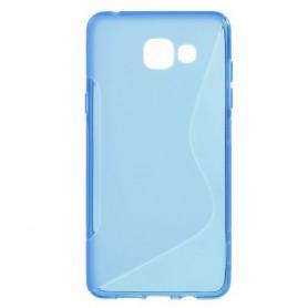 Samsung Galaxy A5 2016 sininen silikonisuojus.