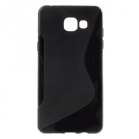 Samsung Galaxy A5 2016 musta silikonisuojus.