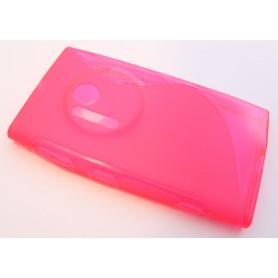 Lumia 1020 roosan punainen silikonisuojus.