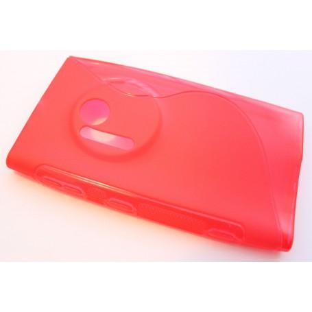 Lumia 1020 punainen silikonisuojus.