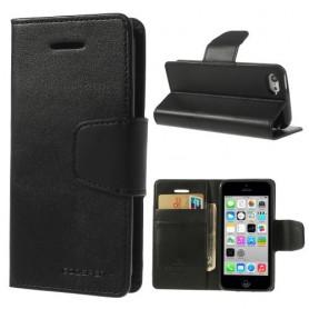 iPhone 5c musta puhelinlompakko