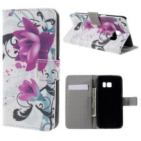 Samsung Galaxy S7 violetit kukat puhelinlompakko