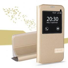 Samsung Galaxy S7 edge samppanjan kultainen ikkunakuori