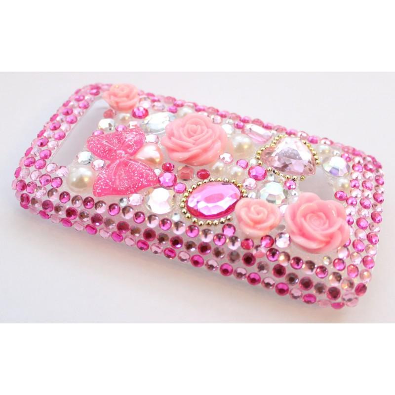 Lumia 710 vaaleanpunaiset ruusut bling kuoret.