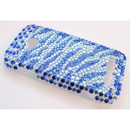 Lumia 710 siniset raidat bling kuoret.