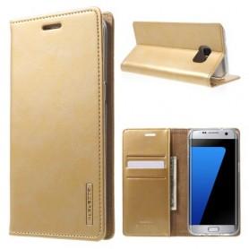 Samsung Galaxy S7 edge samppanjan kultainen puhelinlompakko