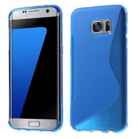 Samsung Galaxy S7 edge sininen silikonisuojus.