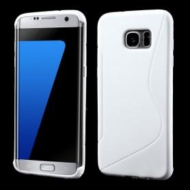 Samsung Galaxy S7 edge valkoinen silikonisuojus.