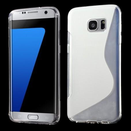 Samsung Galaxy S7 edge läpinäkyvä silikonisuojus.
