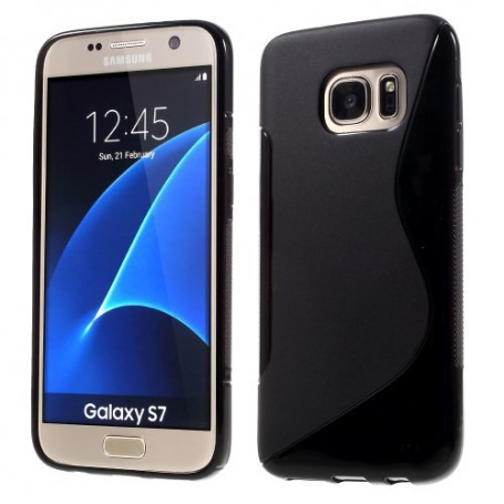 Samsung Galaxy S7 musta silikonisuojus.