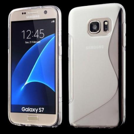 Samsung Galaxy S7 läpinäkyvä silikonisuojus.