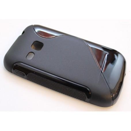 Galaxy S2 Mini musta silikonisuojus.